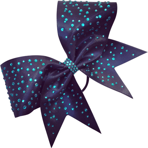 Black mystique bow with multisize rhinestones. - BRAGABIT  - 1