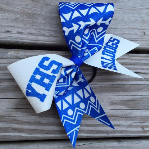 Default Type - Blue And White Aztec Designed Bow