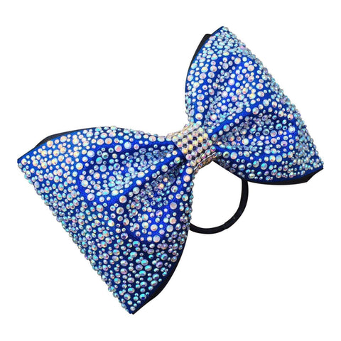 Default Type - Blue Tailless Bow Wirh Rhinestones