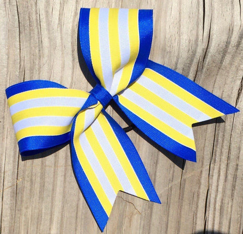 Default Type - Blue, Yellow, And White Striped Bow