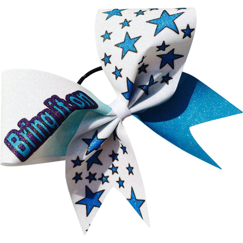 Bring it on glitter bow with stars. - BRAGABIT  - 1