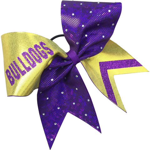 Bulldogs bow with rhinestones. More colors and team names. - BRAGABIT  - 1