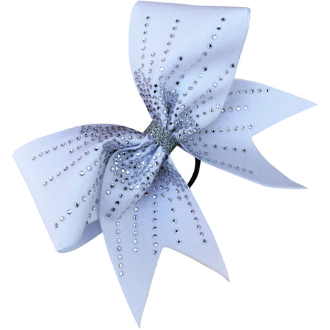 Classic white bow with rhinestones. - BRAGABIT