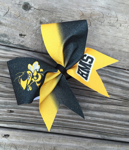 Default Type - Custom Black And Yellow Ombre Bow