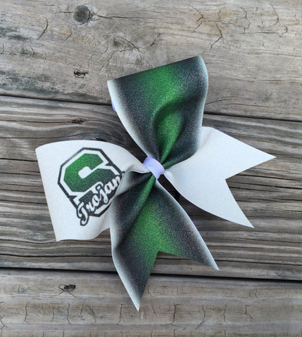 Default Type - Custom Green, Black, And White Bow