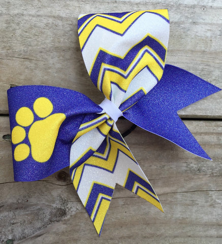 Double chevron bow with your mascot. - BRAGABIT  - 1