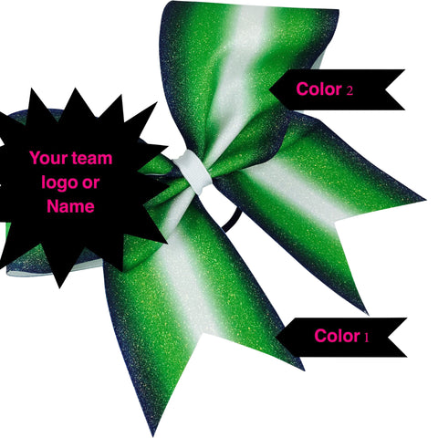 Double ombre bow in your colors and with your logo or team name. - BRAGABIT