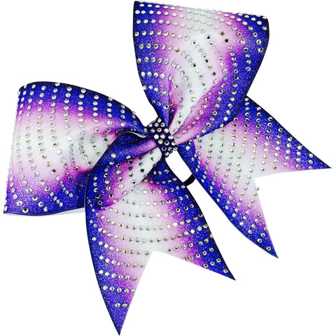Double ombre glitter bow with rhinestones - BRAGABIT