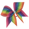 Dye sublimation PREMIUM rainbow glitter bow with Genuine AB SWAROVSKI CRYSTALS. - BRAGABIT  - 1