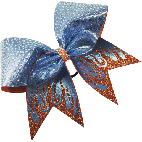 Flames bow  with rhinestones. You choose bow color. - BRAGABIT