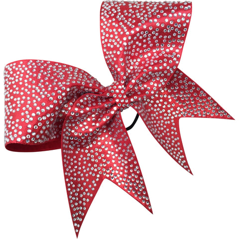 Full rhinestones bow with scattered pattern. - BRAGABIT