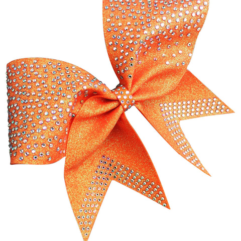 Glitter bow with AB RHINESTONES. Available in any color. - BRAGABIT