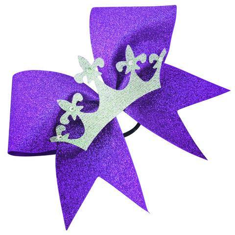 Glitter bow with crown. - BRAGABIT  - 1