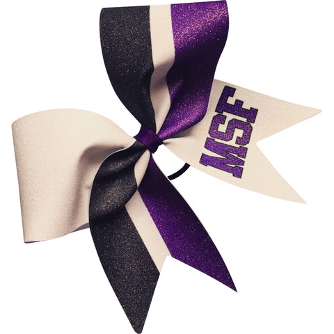 Glitter bow with your school initials, name or logo. - BRAGABIT