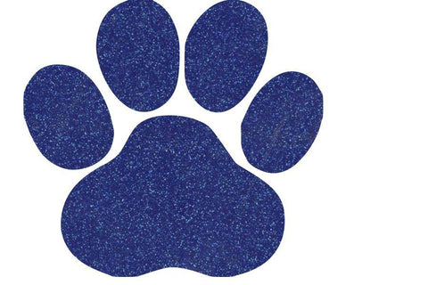 "Glitter paw cut out. Approximately 2"" by 2"" - BRAGABIT  - 1"