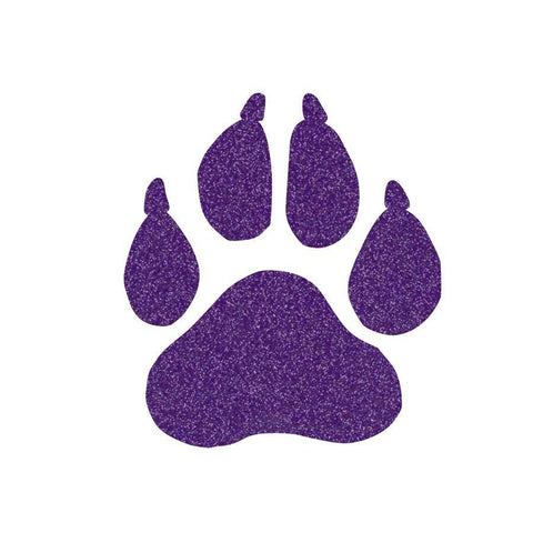 "Glitter paw cut out with claws. Approximately 2"" by 1.8"" - BRAGABIT  - 1"