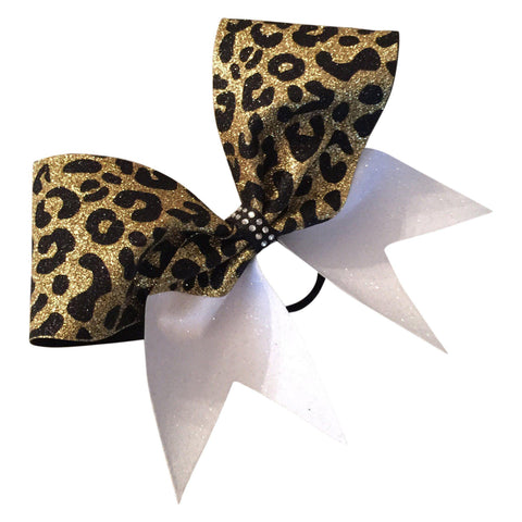 Default Type - Gold And Black Glitter Cheetah Print