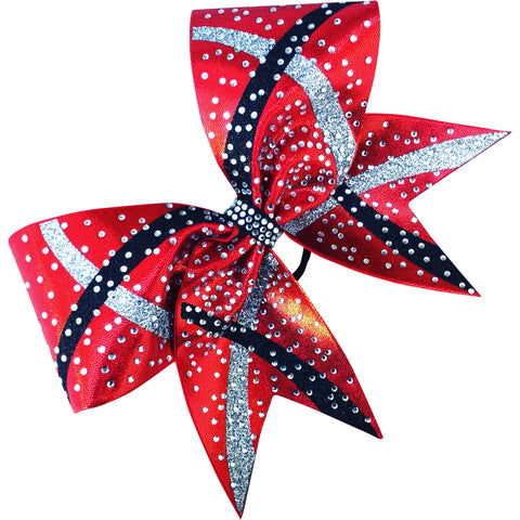 Mystique bow with glitter designs and rhinestones - BRAGABIT