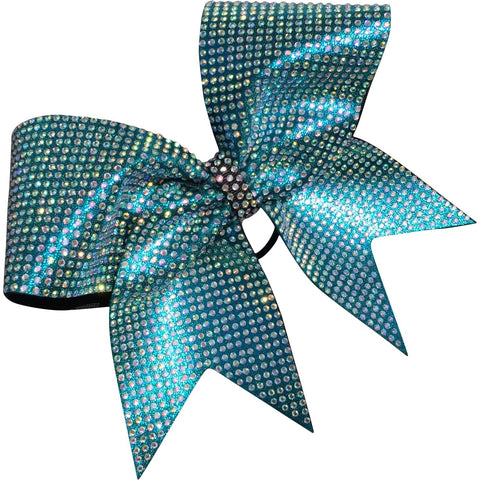 Mystique fabric and 3000 AB rhinestones bow! Available in different colors. - BRAGABIT