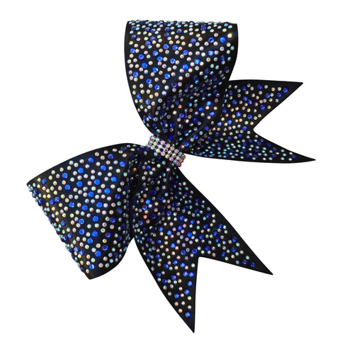 Default Type - Mystique Fabric Bow With 2 Size Rhinestones.