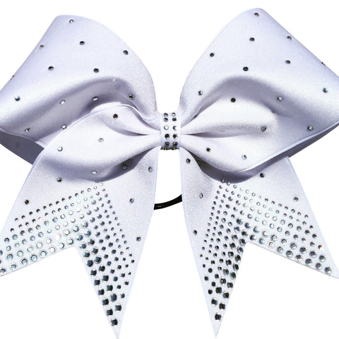 Mystique fabric bow with different size rhinestones - BRAGABIT