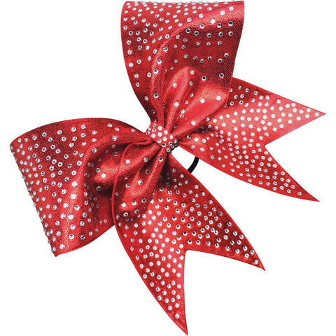 Mystique fabric bow with rhinestones . Available in any color. - BRAGABIT
