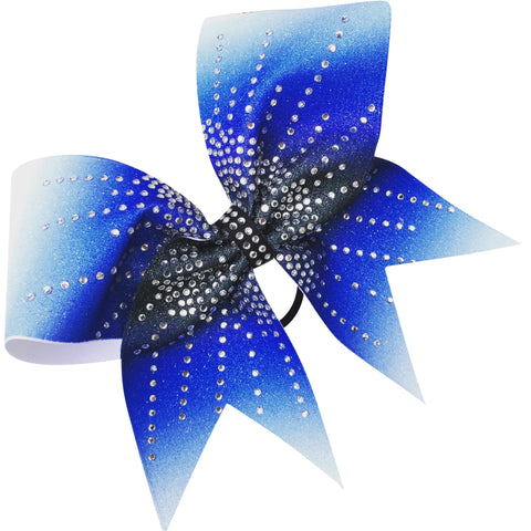 Ombre bow with 3 colors and rhinestones. - BRAGABIT