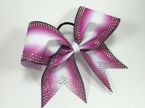 Ombre bow with rhinestones - BRAGABIT