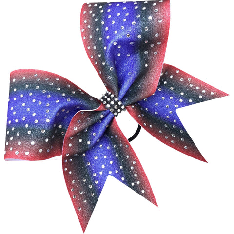 Ombre bow with rhinestones. Available in any color! - BRAGABIT