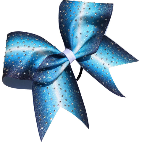 Ombre bow with scattered rhinestones - BRAGABIT