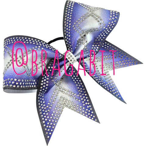 Ombre cheer bow with rhinestones - BRAGABIT  - 1