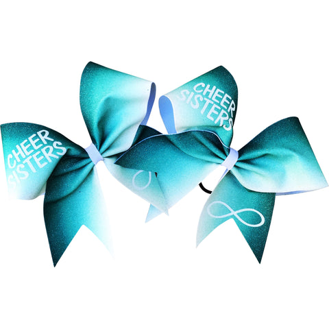 Ombre cheer sisters. Available in any color. Price is for 2 bows. - BRAGABIT