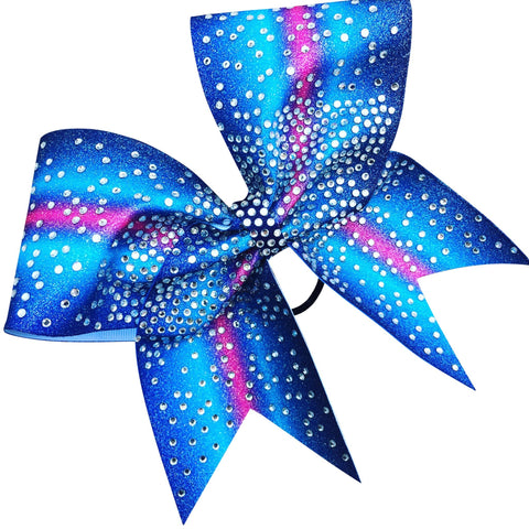 Ombre glitter bow with rhinestones. Available in any color combination. - BRAGABIT