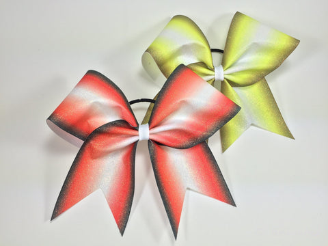 Ombre sublimated glitter bow. - BRAGABIT  - 1