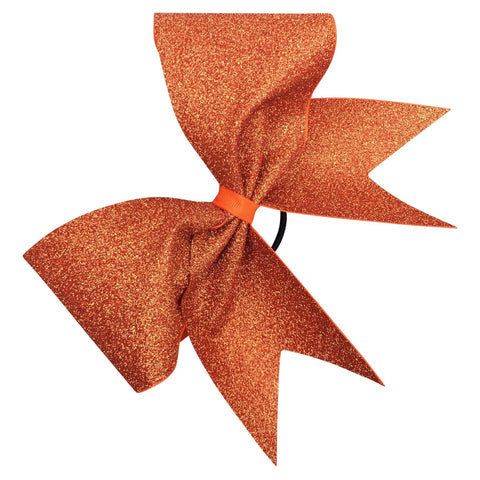 Orange glitter bow. Available in other colors. - BRAGABIT  - 1