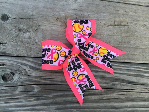 Default Type - Pink Softball Bow
