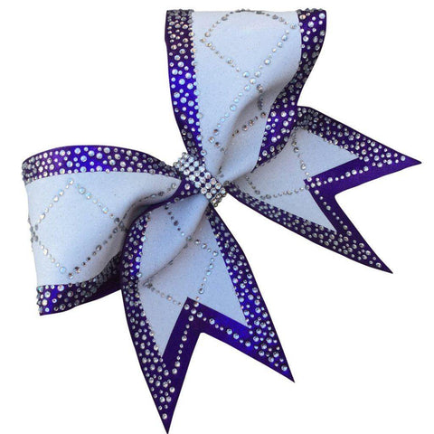 Default Type - Purple And White Bow With Rhinestones