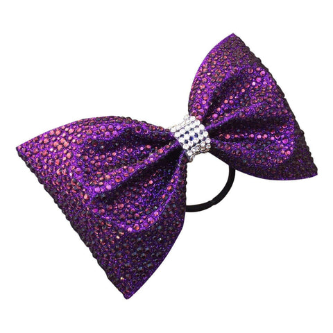 Default Type - Purple Tailless Bow With Purple Rhinestones