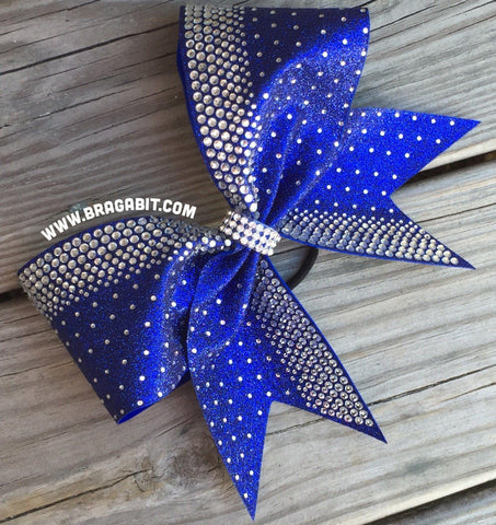 Default Type - Royal Blue Bow With Multisize Rhinestones