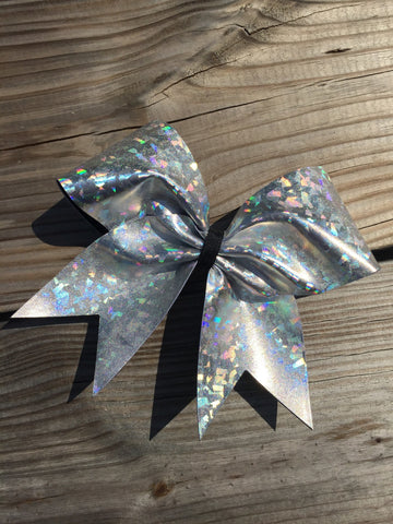 Silver holographic metalic bow - BRAGABIT