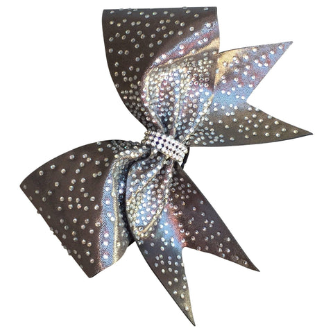 Default Type - Sparkly Gold Bow With Rhinestones