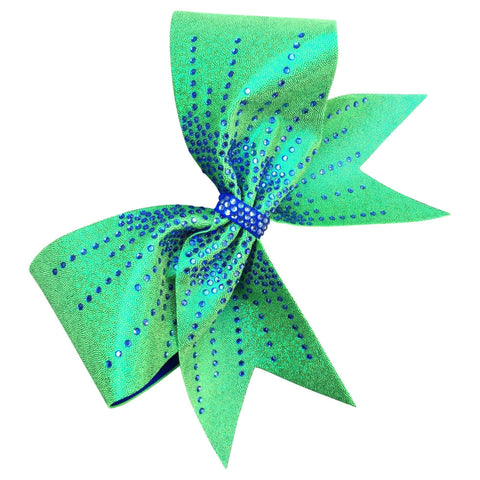 Default Type - Sparkly Green Bow With Blue Rhinestones