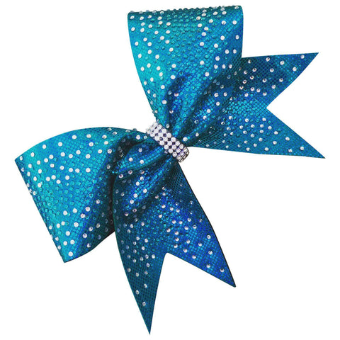 Default Type - Sparkly Teal Bow With Rhinestones