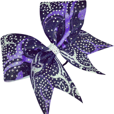 Sublimated glitter bow with rhinestones - BRAGABIT  - 1