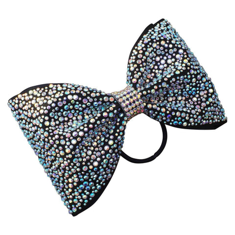 Default Type - Tailless Black Bow With Silver Rhinestones