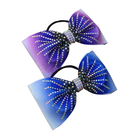 Default Type - Tailless Ombre Bow With Rhinestones