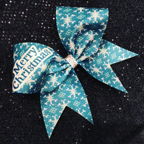 Teal christmas bow - BRAGABIT