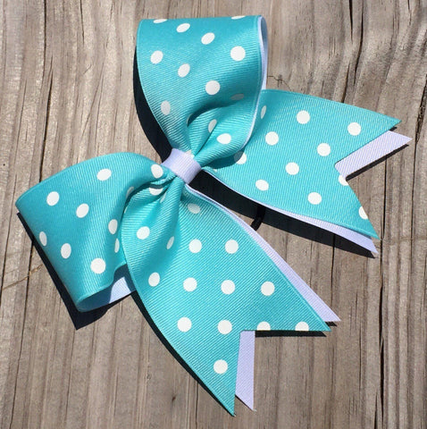 Default Type - Turquoise And White Polka Dot Bow