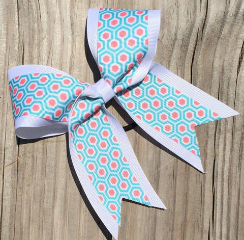 Default Type - Turquoise, White, And Pink Bow