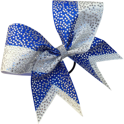 Two color sublimated bow full of scattered rhinestones. - BRAGABIT